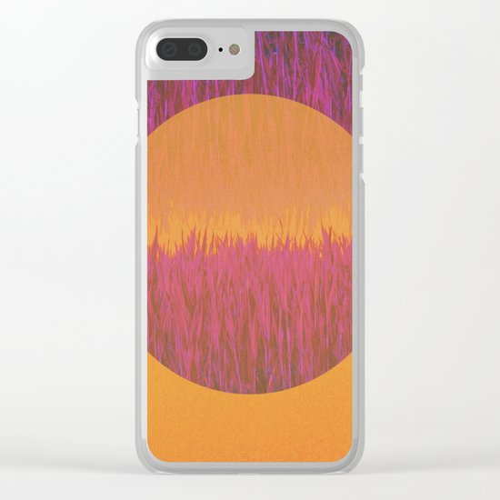 Hot Summer Day Clear iPhone Case