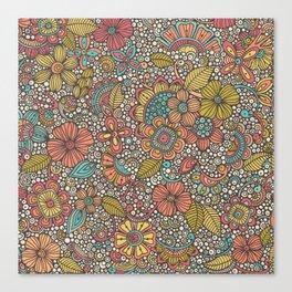 Doodles Garden Canvas Print