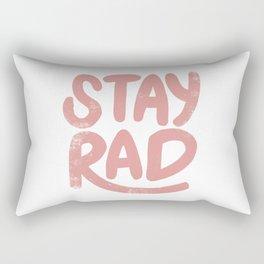 Stay Rad Vintage Pink Rectangular Pillow