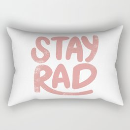 Stay Rad Vintage Pink Rectangular Pillow
