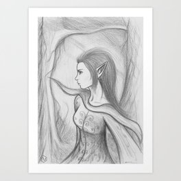 Elvenpath Art Print