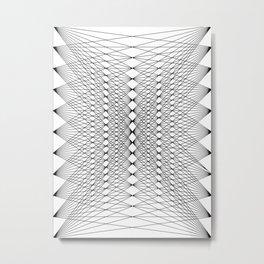 Abstract Mesh Metal Print