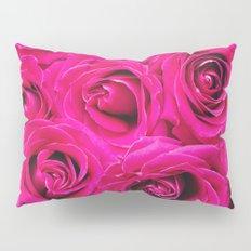 Romantic Pink Purple Roses Pattern Pillow Sham