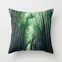 Bamboo Forest, Kyoto, Japan 2 Throw Pillow