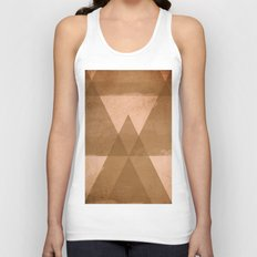 Distressed Triangles Unisex Tank Top