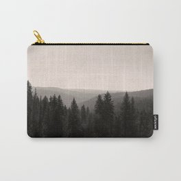 Sepia Tree Lined Valley Photography Print Carry-All Pouch