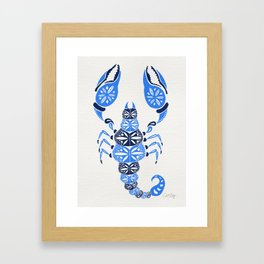 Blue Scorpion Framed Art Print