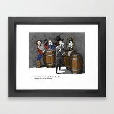 Remember, remember the fluff of Movember Framed Art Print