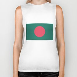 Flag of Bangladesh. The slit in the paper with shadows.  Biker Tank