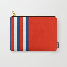 Retro Stripes Pop Art - Red White Blue Carry-All Pouch