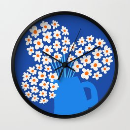 Abstraction_FLORAL_Blossom_001 Wall Clock