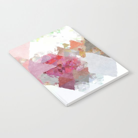 Pink white rosegold triangle pattern Notebook
