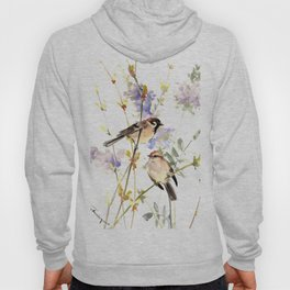 Sparrows and Spring Blossom Hoody