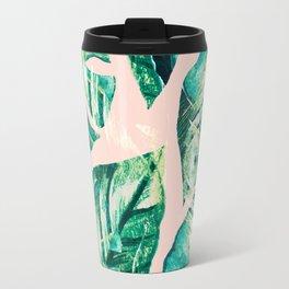 Leaf watercolor pastel Travel Mug