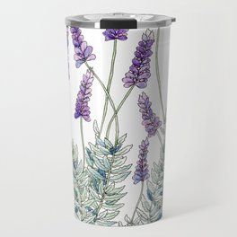Lavender, Illustration Travel Mug