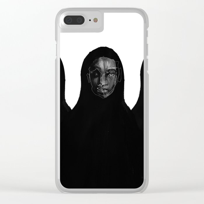 threesome Clear iPhone Case