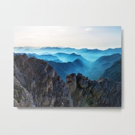 Mountains Breathe Too Metal Print