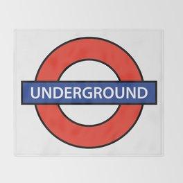 London Underground Throw Blanket