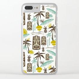 Island Tiki - White Clear iPhone Case