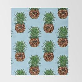 Pineapple Persian Cat Throw Blanket