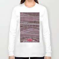 blankets Long Sleeve T-shirts featuring Pile on the blankets by Laura Lee Gulledge