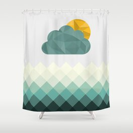 Sea Polygons Shower Curtain