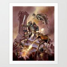 The Undead Strike Art Print