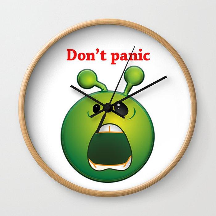 Don't panic alien Wall Clock