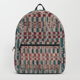 Dark Red and Green Arabian Pattern Backpack