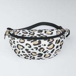 Leopard Animal Print Watercolour Painting Fanny Pack