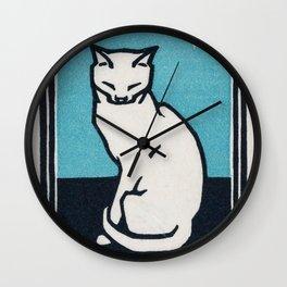 Sitting cat (1917) by Julie de Graag (1877-1924) Wall Clock