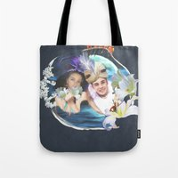 aladdin Tote Bags featuring Aladdin & Jasmine by FarbCafé