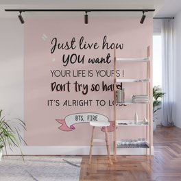 BTS Quote Wall Mural