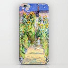 Monets Garden at Vetheuil iPhone Skin