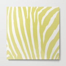 Citrus & White Zebra Print Metal Print