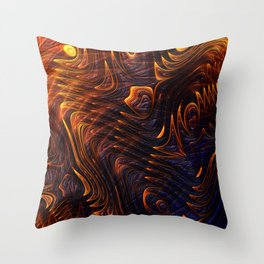 Lava Flow Abstract Throw Pillow