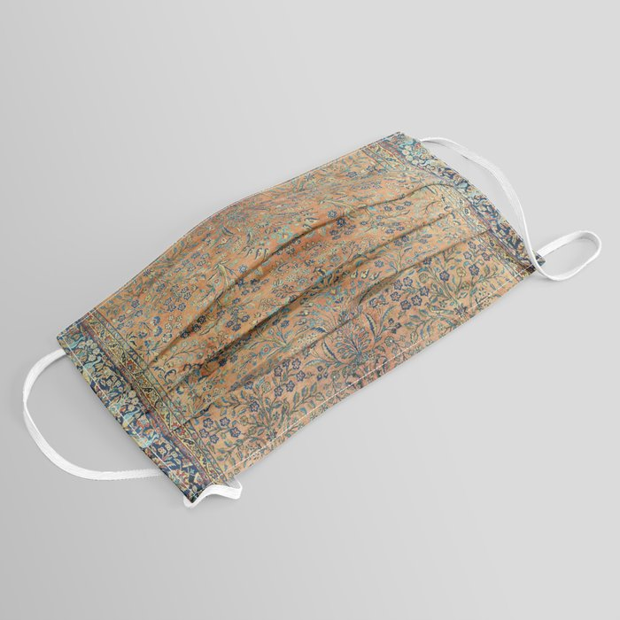Kashan Floral Persian Carpet Print Face Mask