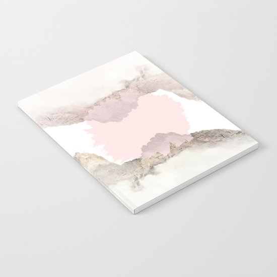 Pale Pink on Mountains Notebook