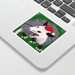 Christmas Opossum Sticker