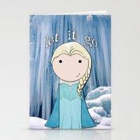 frozen elsa Stationery Cards featuring Elsa: Frozen  by Jen Talley