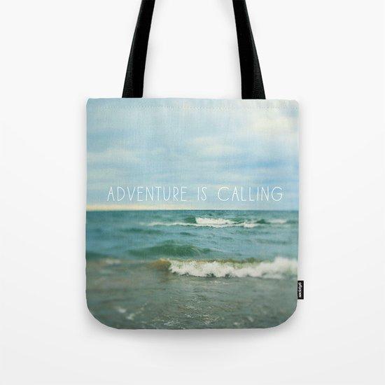 Adventure is Calling - Waves Tote Bag