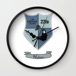 Sherlock Coat of Arms Wall Clock