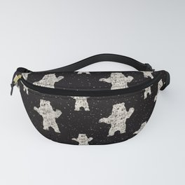 Polar Bear in Winter Snow on Black - Wild Animals - Mix & Match with Simplicity of Life Fanny Pack