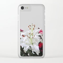 Floral Lilies Daisies Clear iPhone Case