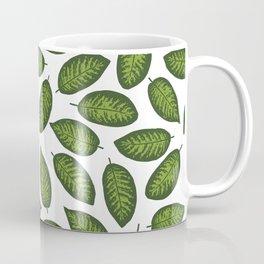 dieffenbachia leaves tropical pattern Coffee Mug