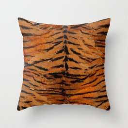 Tiger skin# stylish#tiger#striped# Throw Pillow