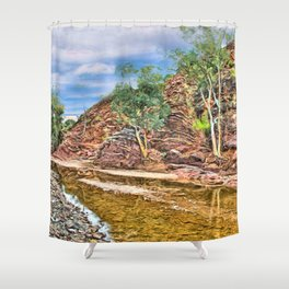 Rocks at Brachina Gorge, Flinders Ranges, Sth Australia Shower Curtain
