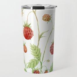 Wild Strawberries Travel Mug