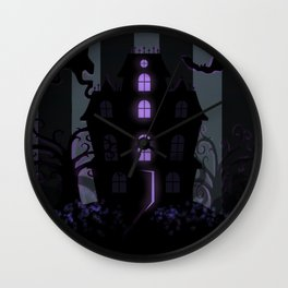 Be it ever so Haunted, there's no place like Home - Dark Gray Wall Clock