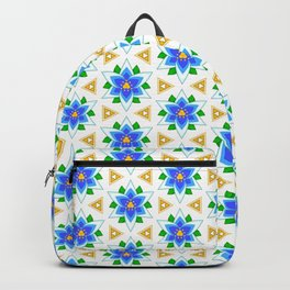 Silent Princess Flower with Golden Triforce Accents Pattern Backpack